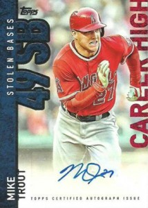 2015 Topps Career High Autograph