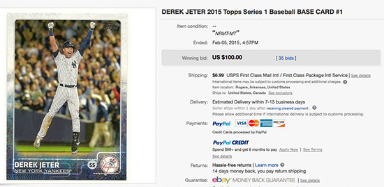 What Is Going on with the 2015 Topps Derek Jeter Card? 1