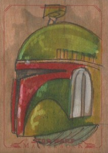 2015 Topps Star Wars Masterwork Sketch Card Wood