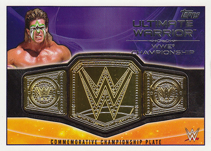 2015 Topps WWE Championship Belt Plate Ultimate Warrior WWE Championship