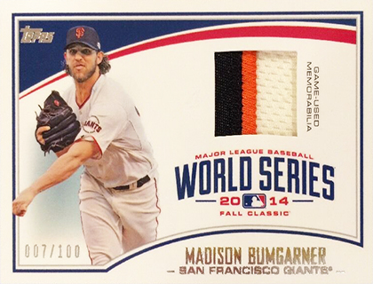 2015 Topps World Series Relic