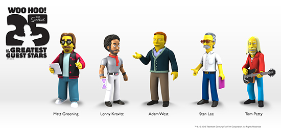 Simpsons 25 Greatest Guest Stars Wave 5 550