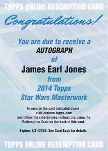 2015 Topps Star Wars Masterwork Autographs Gallery 9