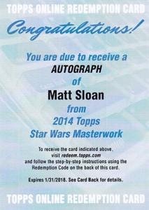 2015 Topps Star Wars Masterwork Autographs Gallery 14
