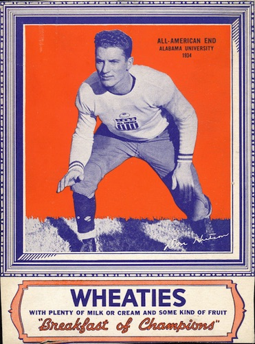 1935 Wheaties All-Americans of 1934 Don Hutson
