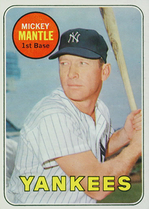 1969 Topps Mickey Mantle Yellow Letters