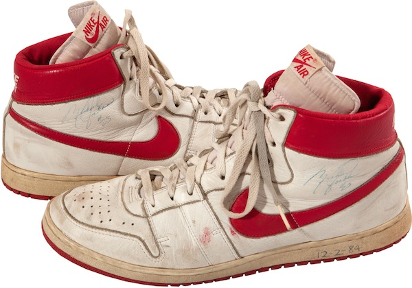 1a4244cb539 Earliest Known Michael Jordan Game-Worn Nike Shoes Sell for Nearly  72K 1