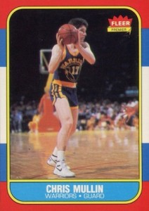 1986-87 Fleer Chris Mullin RC #77