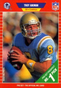 buy online 338a4 a6a39 Top Troy Aikman Football Cards, Rookie Cards