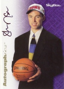 1996-97 SkyBox Premium Autographics Steve Nash black