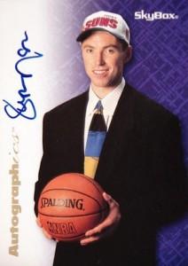 1996-97 SkyBox Premium Autographics Steve Nash blue