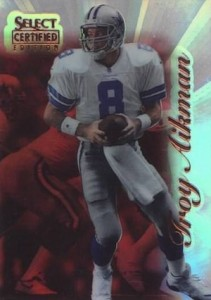 1996 Select Certified Mirror Red Premium Stock Troy Aikman #54