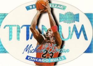 1997-98 Skybox Metal Universe Basketball Titanium Die-Cut Michael Jordan