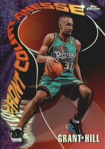 1997-98 Topps Chrome Basketball Season's Best Front Court Finesse Grant Hill