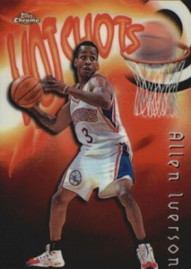 1997-98 Topps Chrome Basketball Season's Best Hotshots Allen Iverson
