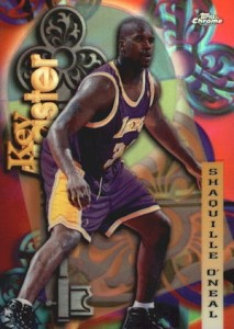 1997-98 Topps Chrome Basketball Season's Best Key Master Shaquille O'Neal