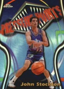 1997-98 Topps Chrome Basketball Season's Best Pressure Points John Stockton
