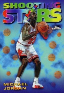1997-98 Topps Chrome Basketball Season's Best Shooting Stars Michael Jordan