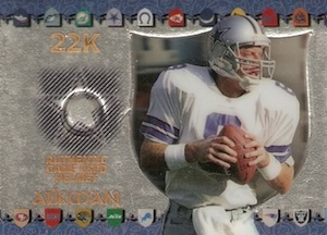 1997 Collector's Edge Excalibur Game Helmets Troy Aikman #7