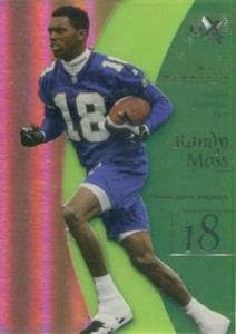 1998 E-X2001 Essential Credentials Now Parallel Randy Moss #55