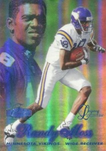 1998 Flair Showcase Legacy Collection Parallel Randy Moss #5 Row 2
