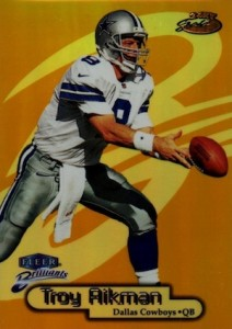 1998 Fleer Brilliants 24-Karat Gold Parallel Troy Aikman #32