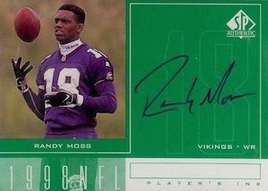1998 SP Authentic Player's Ink Randy Moss #RM Autograph