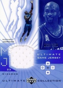 Top Michael Jordan Game-Used Washington Wizards Cards 1