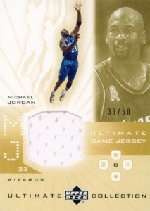 Top Michael Jordan Game-Used Washington Wizards Cards 3