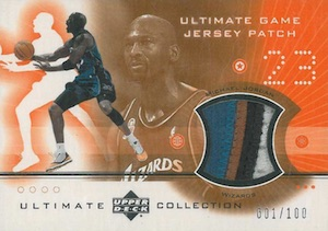 Top Michael Jordan Game-Used Washington Wizards Cards 4