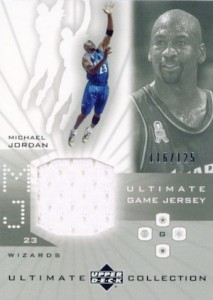 Top Michael Jordan Game-Used Washington Wizards Cards 2