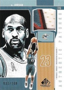 Top Michael Jordan Game-Used Washington Wizards Cards 6