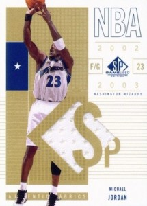 Top Michael Jordan Game-Used Washington Wizards Cards 5