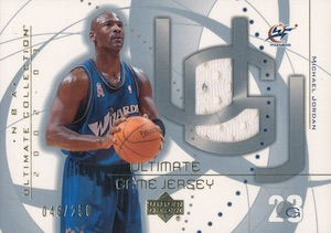 Top Michael Jordan Game-Used Washington Wizards Cards 7