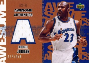 Top Michael Jordan Game-Used Washington Wizards Cards 8