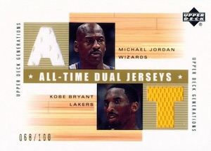 Top Michael Jordan Game-Used Washington Wizards Cards 9