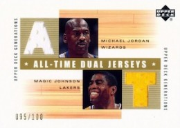 Top Michael Jordan Game-Used Washington Wizards Cards 10