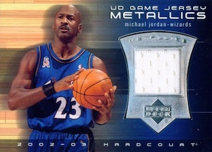 Top Michael Jordan Game-Used Washington Wizards Cards 13