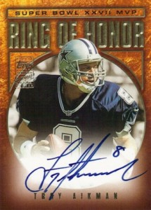 2002 Topps Ring of Honor Autographs Troy Aikman #RH-TA