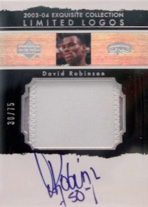2003-04 Exquisite Collection Limited Logos David Robinson