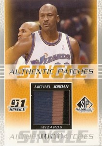 Top Michael Jordan Game-Used Washington Wizards Cards 14