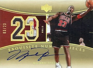 2004-05 Exquisite Collection Number Pieces Michael Jordan