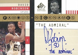 Salute to The Admiral! Top David Robinson Basketball Cards 14