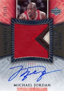 2005-06 Exquisite Collection Limited Logos Michael Jordan