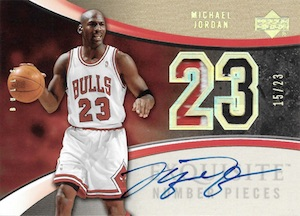 2005-06 Exquisite Collection Number Pieces Michael Jordan