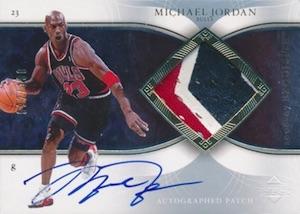 2006-07 Exquisite Collection Auto Patches Michael Jordan