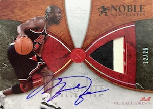 2006-07 Exquisite Collection Noble Nameplates Michael Jordan