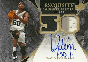 2007-08 Exquisite Collection Number Pieces David Robinson