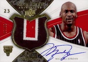 2008-09 Exquisite Collection Noble Nameplates Michael Jordan