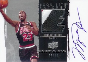 2009-10 Exquisite Collection Auto Patches Michael Jordan